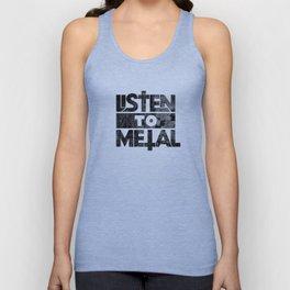 Listen to Metal Unisex Tank Top