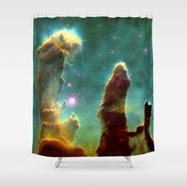 Eagle Nebula Pillars Shower Curtain