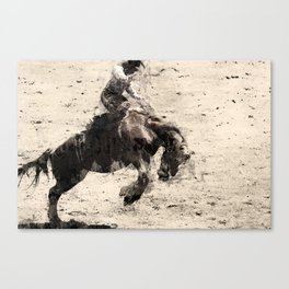 Hanging On - Bronco Busting Champ Canvas Print