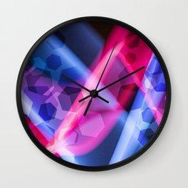 Matrix Abstract Futuristic Glowing Technology Wall Clock