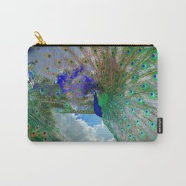 Peacocks in Clouds Carry-All Pouch