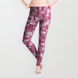 Checked Pink Leggings
