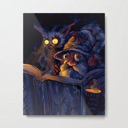 Lemur Nightlight Metal Print