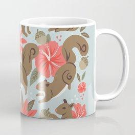 Squirrels & Blooms – Russet & Coral Coffee Mug