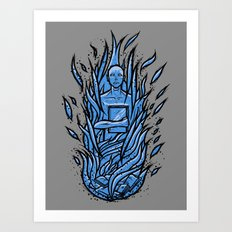 fahrenheit 451 - bradbury blue variant Art Print