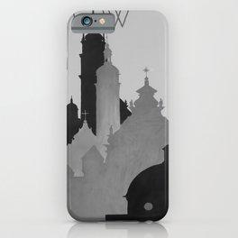 retro retro Lwow poster iPhone Case
