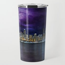 Spacey Chicago Skyline Travel Mug