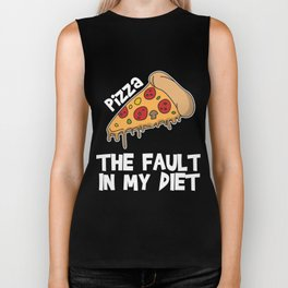 Funny It's not my fault Joke Tee Design THE FAULT IN MY DIET Biker Tank