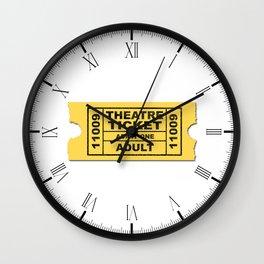Theatre Ticket Wall Clock