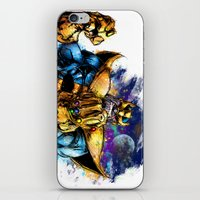thanos iPhone & iPod Skins featuring Thanos by Vincent Vernacatola