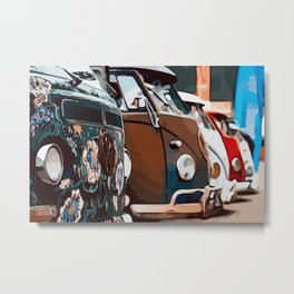 On adventure with the roadtrip bus Metal Print