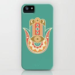 Colorful Hamsa Hand iPhone Case