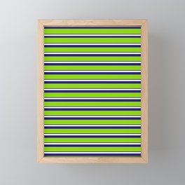 Green Stripes of Spring Framed Mini Art Print