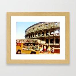 Roman food truck. Framed Art Print
