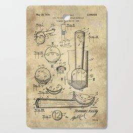 Ice Cream Scoop Blueprint Industrial Farmhouse Cutting Board