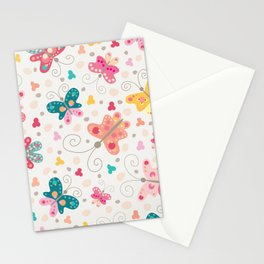 Spring butterflies Stationery Cards