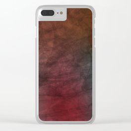 Talking Bubble (colorful silhouette) Clear iPhone Case