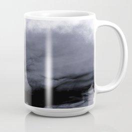 WHITE & BLUE & BLACK TOUCHING #2 #abstract #decor #art #society6 Coffee Mug