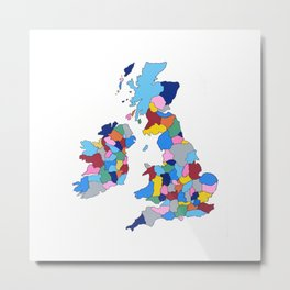 England, Ireland, Scotland & Wales Metal Print