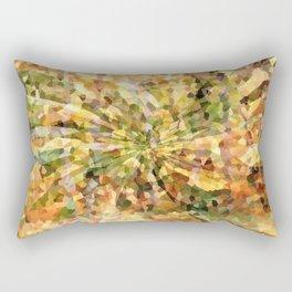 Autumn Crystal Mosaic Abstract Rectangular Pillow