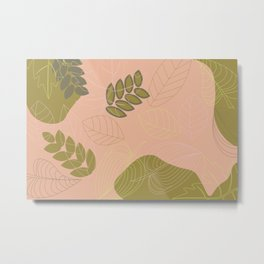 Abstract spring summer foliage pattern Metal Print