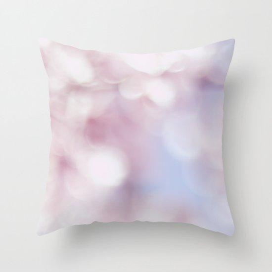 Blossom bokeh Throw Pillow