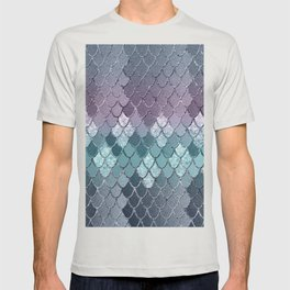Mermaid Scales Navy Blue Teal Purple Glam #1 #shiny #decor #art #society6 T-shirt