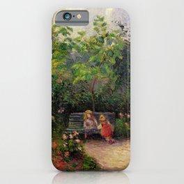 "Camille Pissarro ""Jardin de l'Hermitage"" iPhone Case"