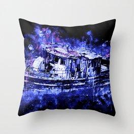 old ship boat wreck ws db Throw Pillow