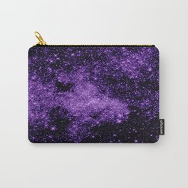gaLaxy. Dark Purple Stars Carry-All Pouch