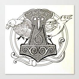 Huginn & Muninn Canvas Print