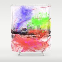 skyline Shower Curtains featuring Skyline by Fine2art