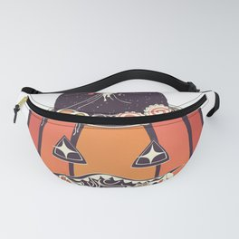 Ramen and cat in the pumpkin Fanny Pack