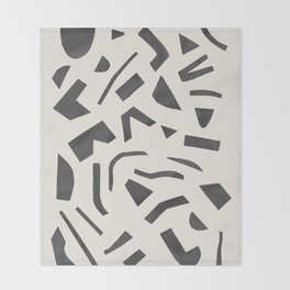 Cut Out - Black Throw Blanket