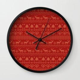 old christmas sweater II Wall Clock