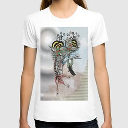 The Swing Colorful Ink drawing Art by Saribelle T-shirt