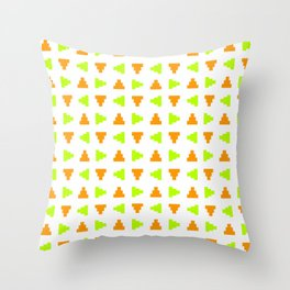 Pyramid 2 - green and orange Throw Pillow