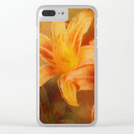 Hot Summer Daylilies Clear iPhone Case