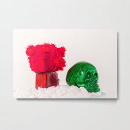 Cactus Skull Part One. Metal Print
