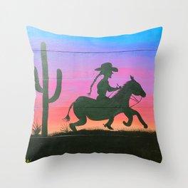 Desert Pony Throw Pillow