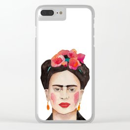 Watercolor Frida Kahlo Clear iPhone Case