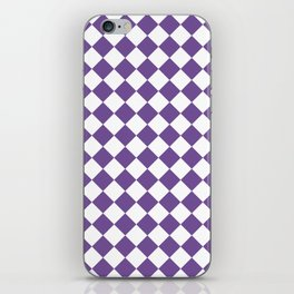 Diamonds - White and Dark Lavender Violet iPhone Skin