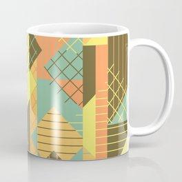Squares Grids Stripes I (Modern Retro Color Palette) Coffee Mug