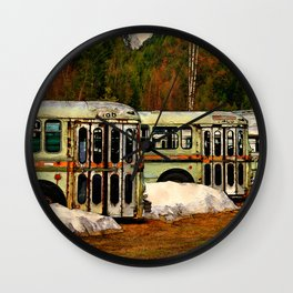 Bus Cemetery Wall Clock