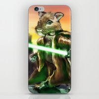 jedi iPhone & iPod Skins featuring Gerbil Jedi by Wesley S Abney
