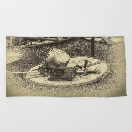 Viking armor Beach Towel