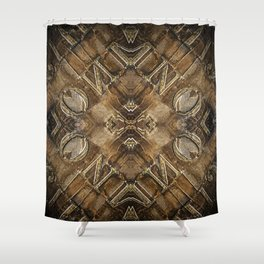 Metal Vintage Letter Abstract Shower Curtain