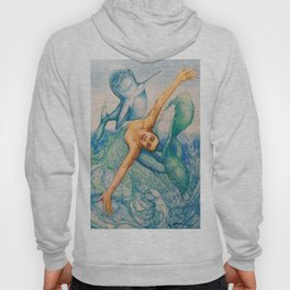 Zodiac Signs Pisces Drawing Hoody