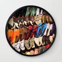 arabic Wall Clocks featuring Arabic Shoes by Ashley-liv
