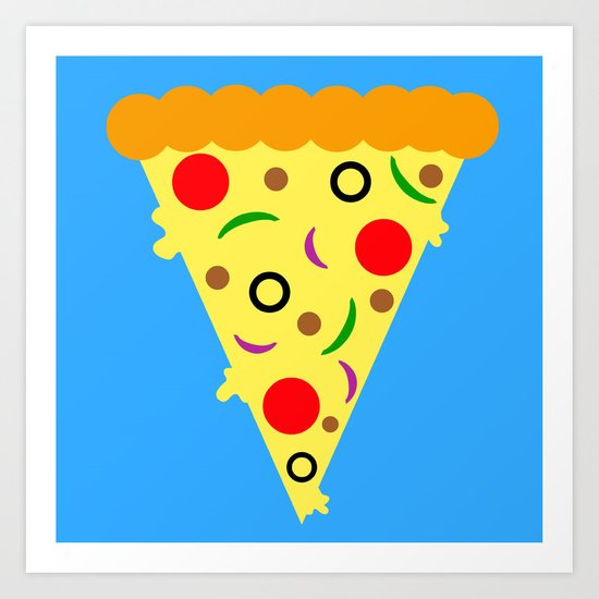 Pizza!  Food of the Gods! Art Print